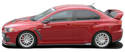 Charge Speed Bottom Line Type-2 Side Skirts: Carbon - Mitsubishi EVO 10