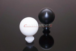 Circuit Sports Lightweight Delrin Shift Knob - M10x1.25 - Black / White