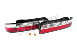 Circuit Sports LED Rear Tail Lights - Crystal Clear Style - Nissan 240SX S13 Coupe