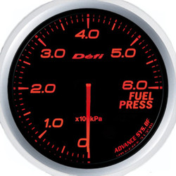 Defi Advance BF 60mm Fuel Pressure Gauge Red