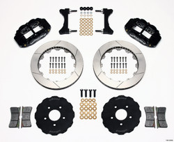 "Wilwood Forged Narrow Superlite 6R Big Brake Front Brake Kit (Hat) - 17"" Wheel Dia - 6 Piston - Slotted Rotor - Mitsubishi Evo 8 / 9"