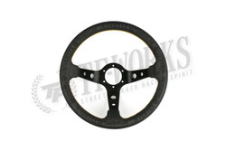 "Vertex ""King"" 330mm Steering Wheel Black Leather"