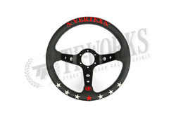 Vertex 7 Star 330mm Steering Wheel Black Leather