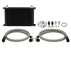 Mishimoto Oil Black Cooler Kit - 03-09 Infiniti G35 / Nissan 350Z