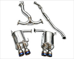 Invidia Q300 Twin Outlet Rolled Stainless Steel Quad Tip Cat-Back Exhaust - '15+ Subaru WRX/STI 4Dr