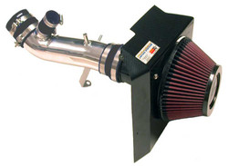 K&N Polished Short Ram Typhoon Air Intake Kit - 03-05 Mitsubishi Evolution 8/9