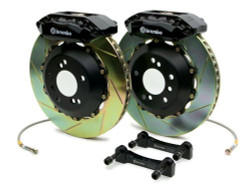 Brembo GT Black Slotted Rear Big Brake Kit 345x28mm - 08-15 Mitsubishi Evolution X