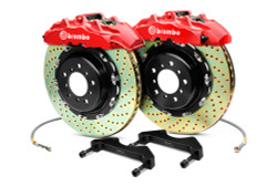 Brembo GT Red Drilled Big Brake Kit 380x32mm - 08-15 Mitsubishi Evolution X 4B11