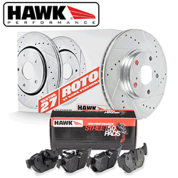 Hawk Front Brake Rotor with HPS 5.0 Pad Kit - 86-91 Mazda RX-7