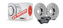 Hawk Performance Section 27 Brake Rotor with HPS 5.0 Pad Kit - 93-95 Mazda RX-7