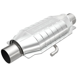 MagnaFlow Large Stainless Steel CA Legal Universal Fit Catalytic Converter - 93-95 Mazda RX-7