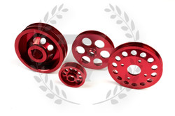 TF Lightweight Aluminum Pulley Kit Nissan 300SX Z32 VG30 - RED