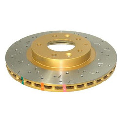 DBA 4000 Series Rear Drilled and Slotted Disc Brake Rotor - 06-12 Mazda MX-5 Miata
