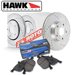 Hawk Performance Section 27 Rotor w/ HPS Pads Kit - 93-06 Lexus G300