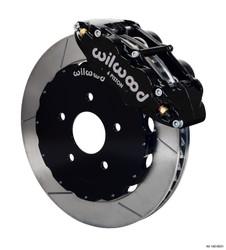 Wilwood Black AERO6 Slotted Front Big Brake Kit - 99-12 Subaru Impreza WRX / STI