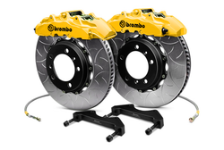 Brembo GT Yellow Front Type III Slotted 2-Piece Big Brake Kit - 08-14 Subaru Impreza STI
