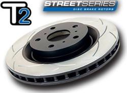DBA T2 Street Series Rear Disc Brake Rotor - 08-13 Subaru WRX STI