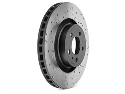 DBA 4000 XS Cross Drilled and Slotted Brake Rotor - 2015+ Mustang w/ Performance Pack Front