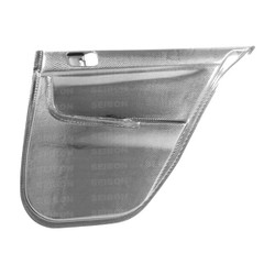 Seibon Rear Carbon Fiber Door Panels - 08-12 Mitsubishi Lancer EVO X