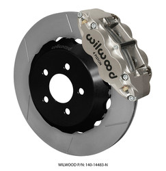 Wilwood 4 Piston FNSL4R Rear Road Race Brake Kit for S550 Mustang