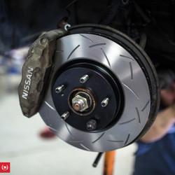 TF BNR32 Nissan Skyline R32 GTR Brake Package:  DBA / Ferodo / Goodridge