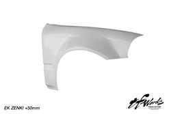 TFWorks Honda Civic EK Zenki (96-98) +50mm Wide front fenders