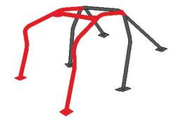 Cusco Roll Cage - Safety 21 6pt Dash Escape w/ harness Bar - 00-03 Honda S2000