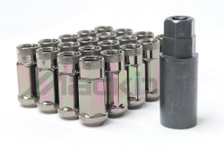 Wheel Mate Monster Open End Lug Nuts M14x1.50 (Set of 20) - Black Chrome