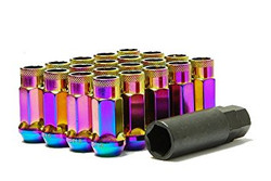 Wheel Mate Monster Open End Lug Nuts M14x1.50 (Set of 20) - Neon Chrome