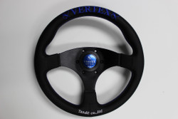VERTEX STEERING WHEEL 325MM BLUE FLAT