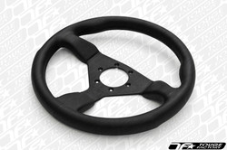 Personal Grinta Steering Wheel 330mm Black Leather with Black Stitching