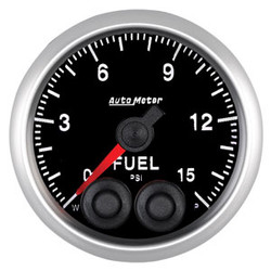 Auto Meter Elite Fuel Pressure Gauge 52mm 0-15 PSI