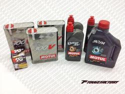 Complete Fluid Change Nissan 240SX S13 S14 - Motul 300V Engine Oil Package - Oversize