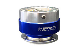 NRG Gen 1.0 Quick Release- Silver Body/ Blue Ring