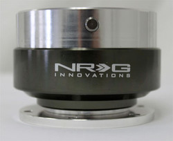 NRG Gen 1.0 Quick Release- Silver Body/ Black Chrome Ring