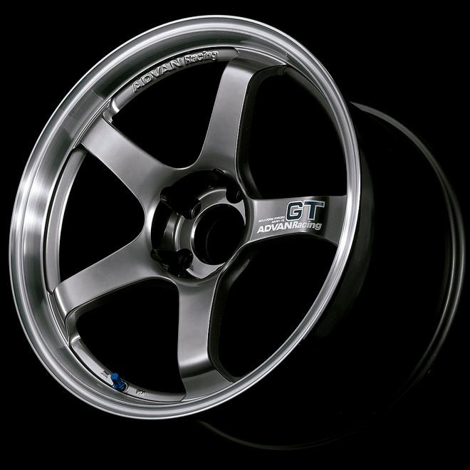 Advan GT 18x12.0 +27 - 5x114.3 - Racing Metal Black with Machined Lip