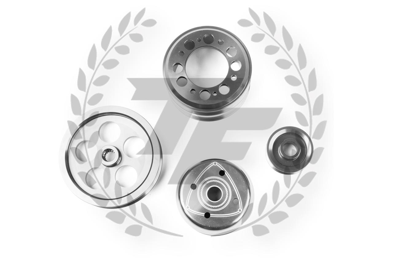 TF Lightweight Aluminum Pulley Kit Mazda RX7 FD3S 13B
