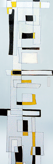 Syntesis® Flush Glass Pocket Door System Handpainted CITY