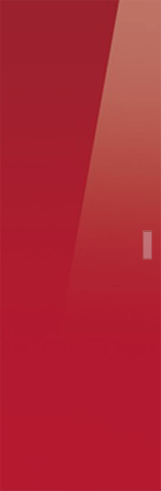 Classic Glass Pocket Door System Coloured RED (RAL 3003)