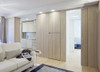Here the bespoke floor-to-ceiling single Syntesis® Flush Pocket Door System has become a seamless part of the interior.