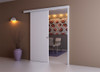 Wall mounted sliding door kit complete with  MDF pelmet and ready to paint or stain real wood veneer doorpost (door not included).