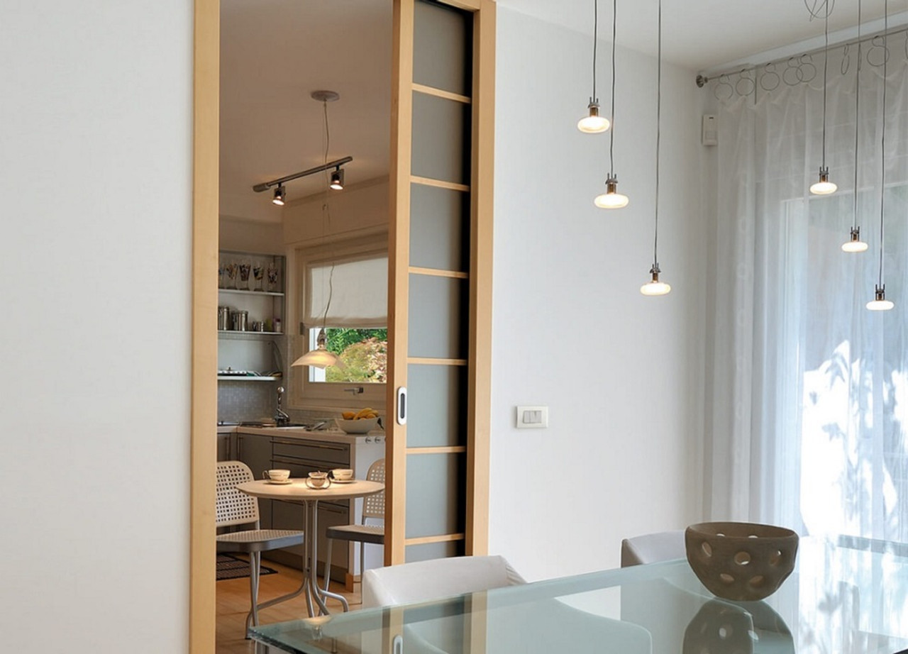 Classic SINGLE WIRING-READY Pocket Door System & Eclisse SINGLE wiring-ready sliding pocket door system - with ...