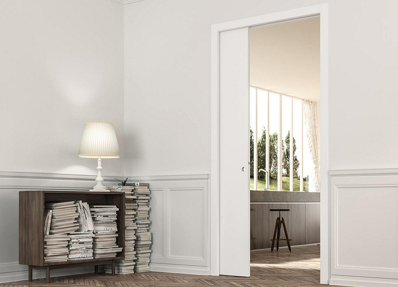 Eclisse Single Pocket Door System With Architrave. The Eclisse Range Of  Classic Pocket Door Systems
