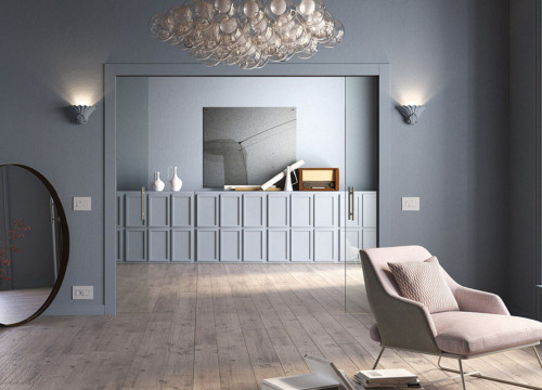 Eclisse Double Wiring Ready Sliding Pocket Door System