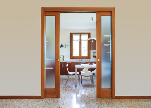 ... An Eclisse Double Pocket Door System Can Be Used To Divide A Kitchen  Area And A ...