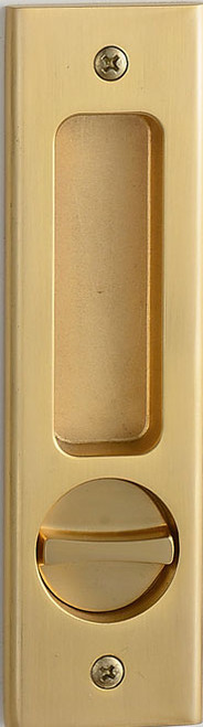 Eclisse Pocket Door Flush Pull and Bathroom Lock  Oblong
