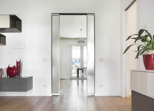 Eclisse syntesis flush pocket door system for double for Eclisse syntesis