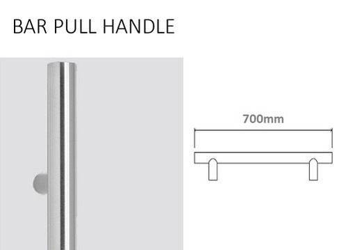 700mm Stainless Steel Bar Handle (02-700)