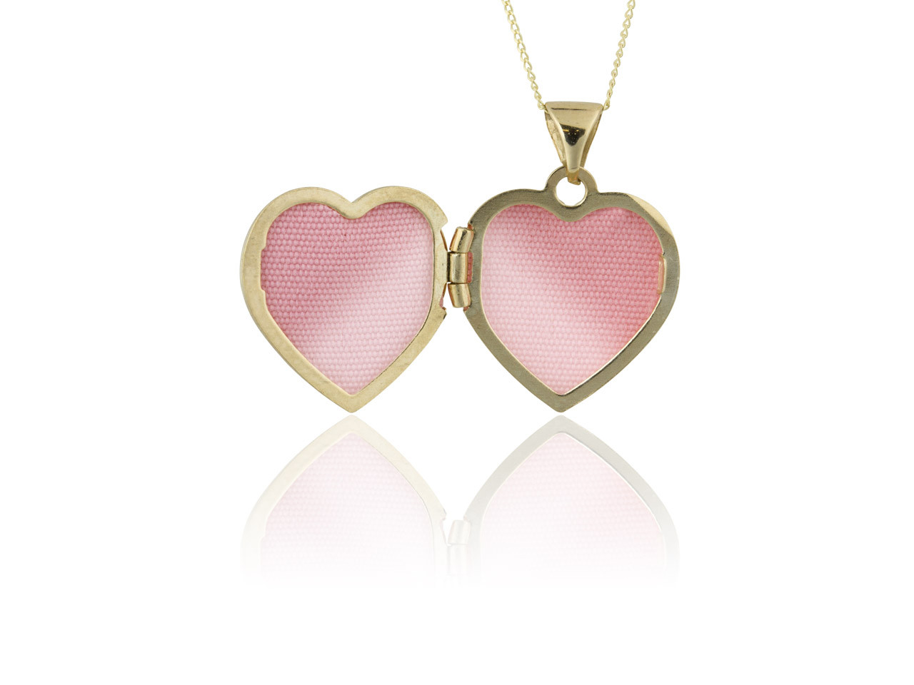 Love heart locket roses 9ct gold 18in chain necklace love heart white gold pendant necklace mozeypictures Gallery