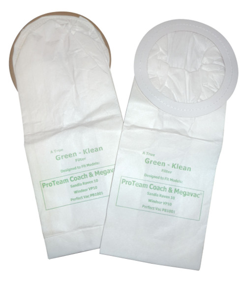 Pack of 10 Vacuum Bags for Perfect Products, Pro-Team, Sandia Plastics & Windsor